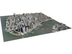 New York City Lower Manhattan 3D Model