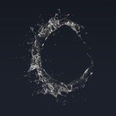 Letter C Splash