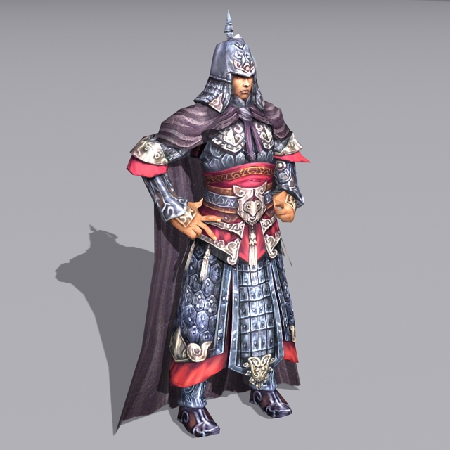 Medieval Chinese General 3d model - 3DHunt co