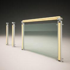 Modern design handrail