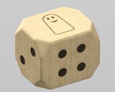 3D wooden dice model