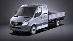 3D model Mercedes-Benz Sprinter Pickup long 2017 VRAY 3D Model