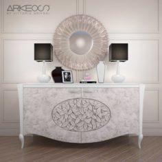 Sideboard Arkeos KRONOS K100 White Silver 3D Model