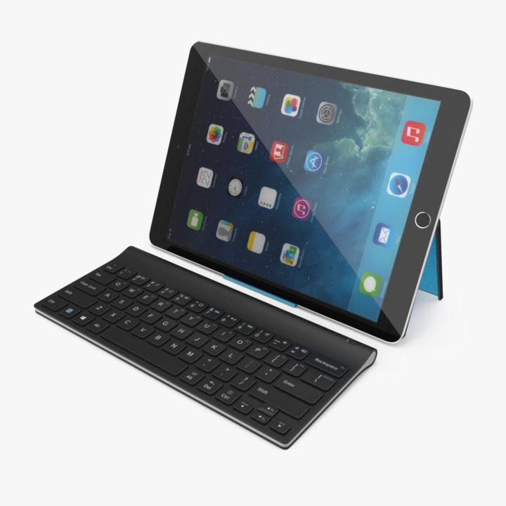 Logitech Tablet Keyboard With IPad Pro 3D Model