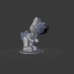 Low Poly Yoshi 3D Print Model