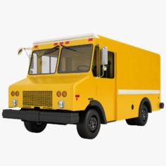 Mail Truck 02 3D Model