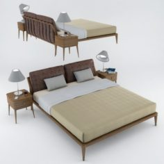Philipp Selva Indigo Bed 3D Model
