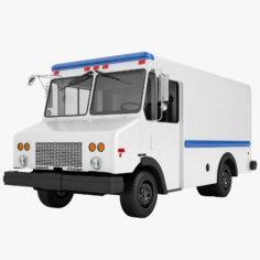 3D model Mail Truck 01 3D Model