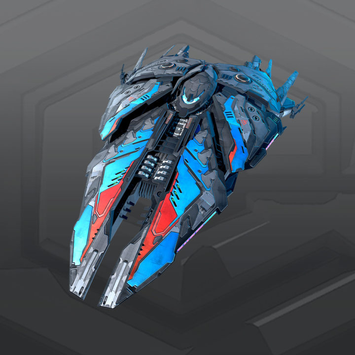 SF_Alien Destroyer A5 3D model 3D Model