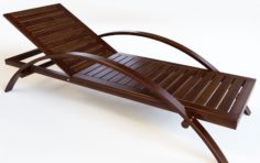 Wooden Chaise Longue – Poolside Couch 3D model 3D Model
