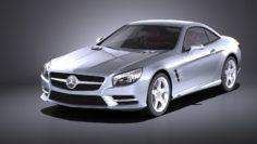 Mercedes SL 2015 VRAY 3D Model