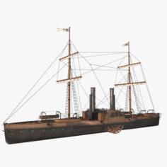 Steam Ship 3D Model
