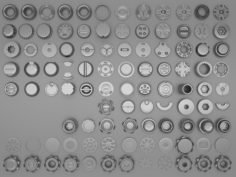 100 low-poly gears-kitbashes and machine parts 3D Model