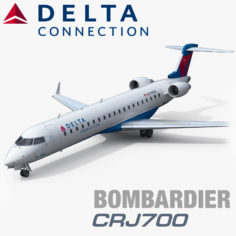 3D Bombardier CRJ700 Delta Connection model 3D Model