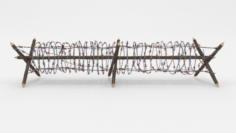 Lowpoly Barb Wire Obstacle 3 3D Model