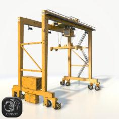 Gantry crane RTG low poly model 3D Model