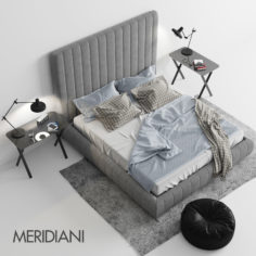 Meridiani Tuyo Bed 3D model 3D Model