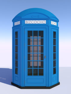 Classic British Phone Both Octogonal 3D Model