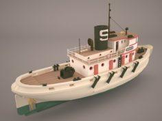 Abrolhos Tug Vessel 3D Model