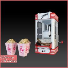 3D Popcorn Machine 3D Model