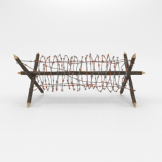 Barb Wire Obstacle 1 3D Model