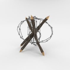 Barb Wire Obstacle 6 3D Model