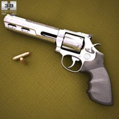 Smith Wesson Model 686 3D Model