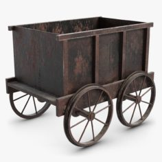 Mine Tub Trolley 1 Small 3D 3D Model