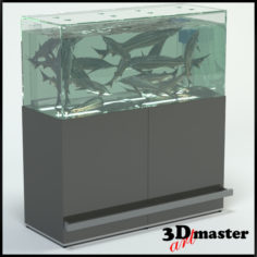 3D Fish(Sturgeon) Aquarium For Supermarket 3D Model