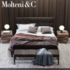 Molteni&C Anton Bed 3D model 3D Model