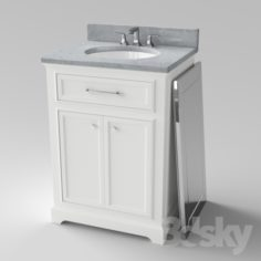 "Clochester 24 ""Single Sink Bathroom Vanity Set                                      Free 3D Model"