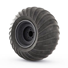 3D Wheel rover model 3D Model