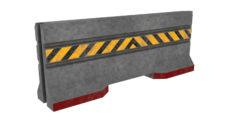 Concrete Barrier 3D 3D Model