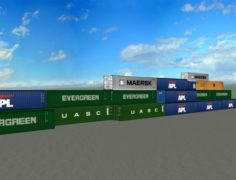 40 Ft Containers 3D Model