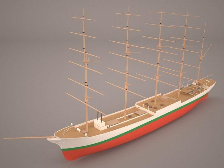 3D Steamship Konstantin 3D Model