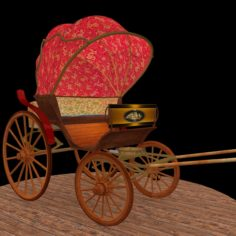3D Chinese carriage model 3D Model