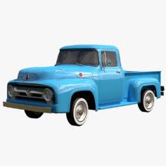 Ford F-100 1956 3D model 3D Model