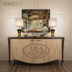 Sideboard Arkeos KRONOS K100 Noce grano 3D Model