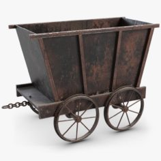 Mine Tub Trolley 2 Big 3D Model