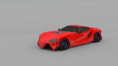 Car red japan 3D Model