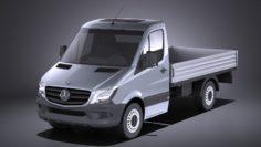 Mercedes-Benz Sprinter Pickup short 2017 VRAY 3D Model