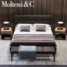 3D Molteni&C Anton Bed 02 model 3D Model