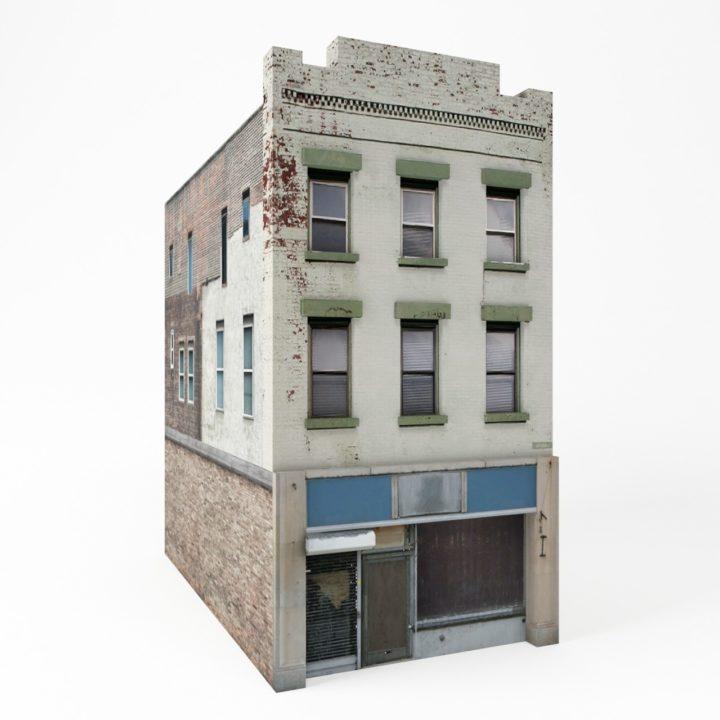 Apartment house i 3d model for Apartment model house