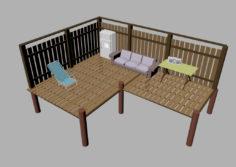 Dock & Scene 3D Model