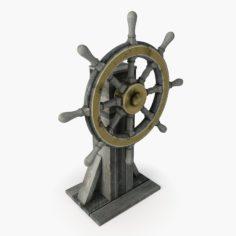 3D Ship Wheel model 3D Model