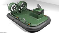 Hovercraft – Military 3D 3D Model