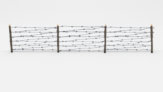 Lowpoly Barb Wire Obstacle 8 3D Model