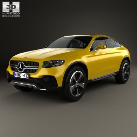 Mercedes benz glc coupe concept 2014 3d model for 2014 mercedes benz glc