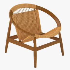 3D Danish Modern Ringstol Chair by Illum Wikkelso 3D Model