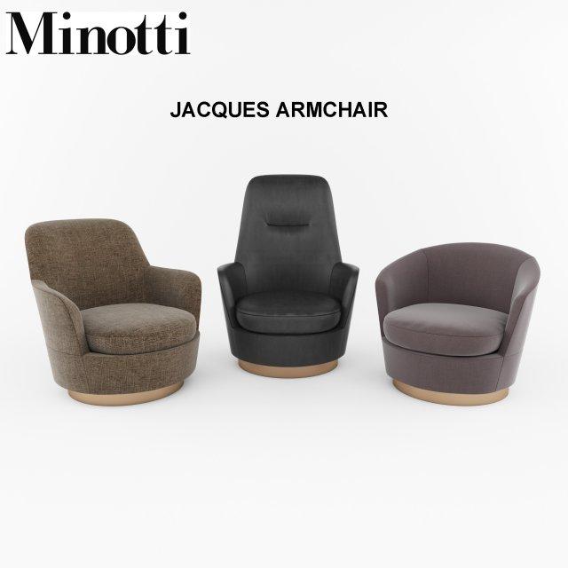 Minotti Jacques Armchair 3d Model 3dhunt Co